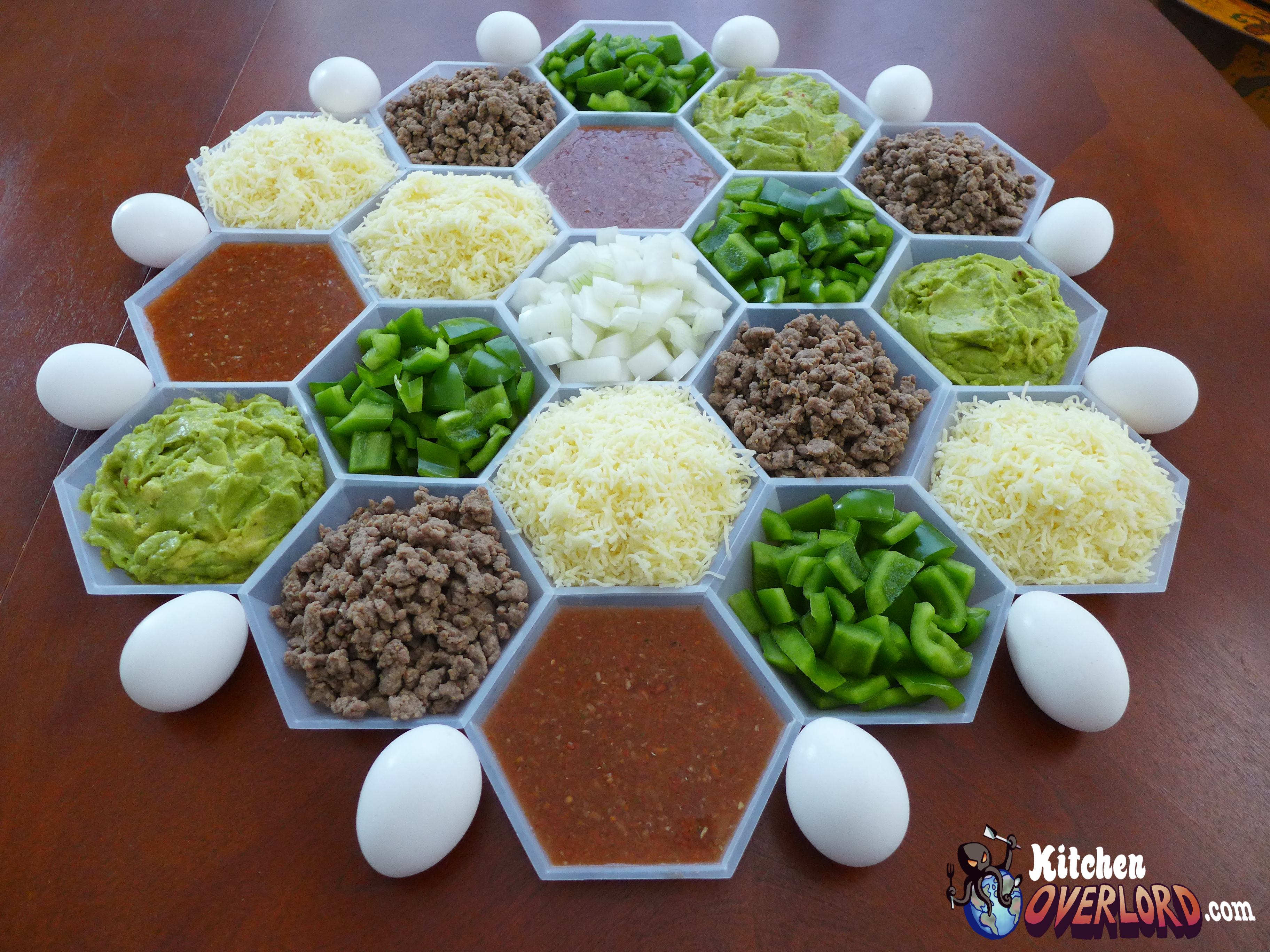 Kitchen Overlord - Settlers of Catan Breakfast Taco Bar