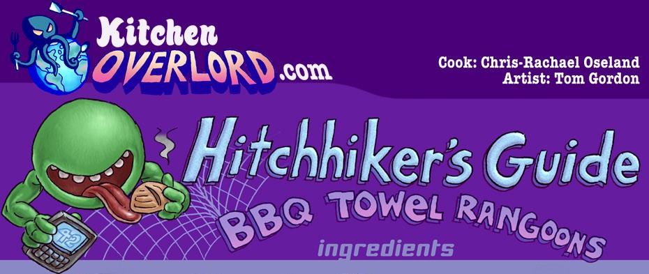 Hitchhiker's Guide BBQ Towel Rangoons