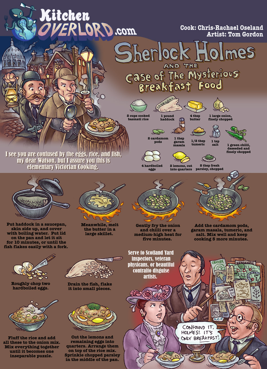 Kitchen Overlord Sherlock Holmes Edible Art