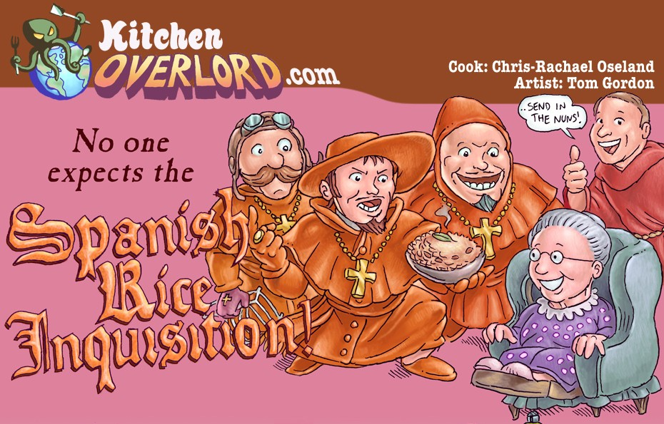 Kitchen Overlord - Monty Python Spanish Rice Inquisition Header