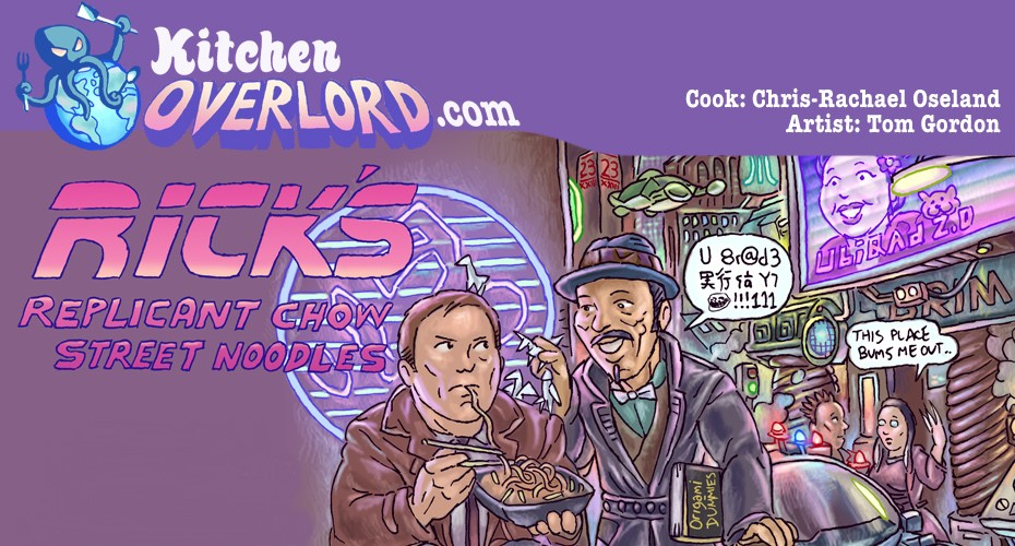 Kitchen Overlord Blade Runner Illustrated Recipe Header