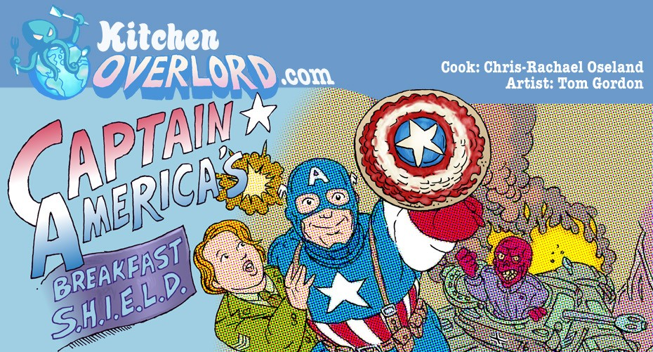 Captain America Breakfast Shield Header