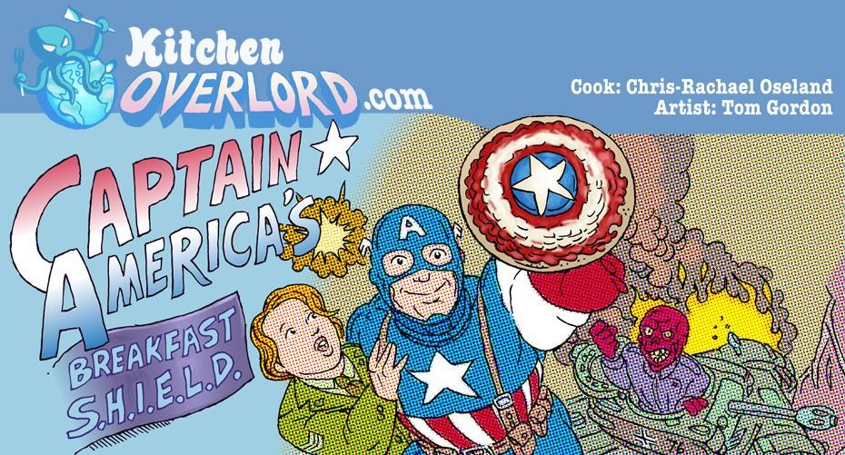 Captain America Breakfast Shield Header