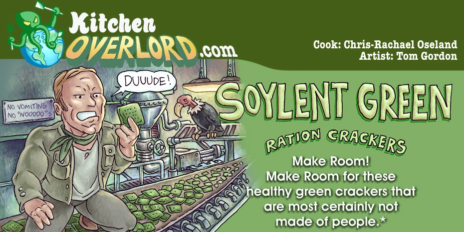 Edible Art Soylent Green Ration Crackers Kitchen Overlord