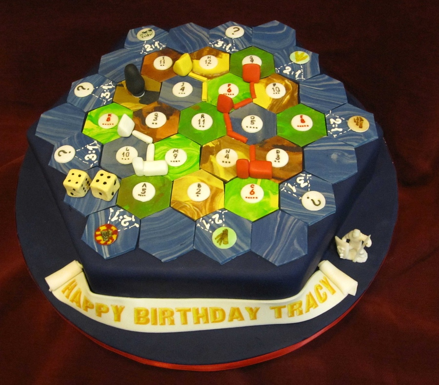 Settlers of Catan Birthday Cake from Cake Central