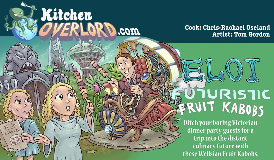 Kitchen Overlord - HG Wells Time Machine Illustrated Recipe header
