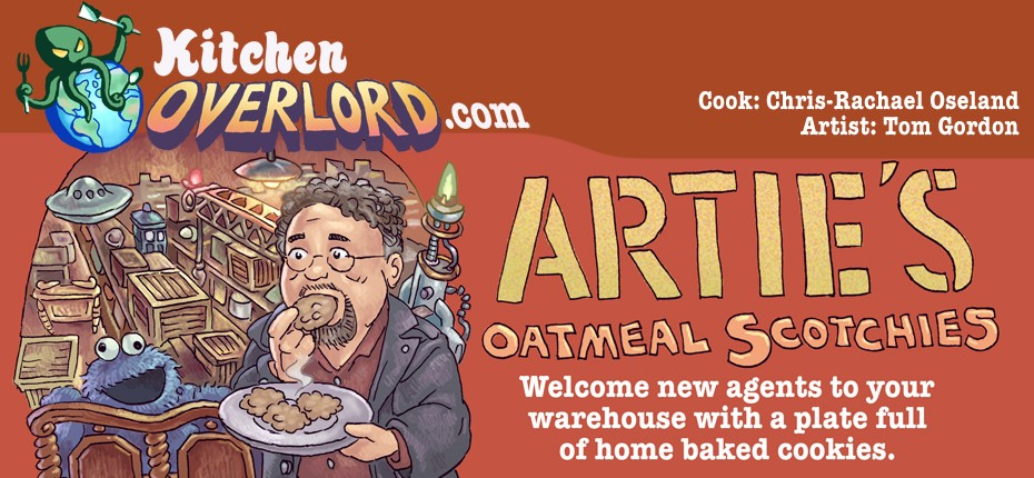 Kitchen Overlord Illustrated Geek Recipe - Warehouse13 header