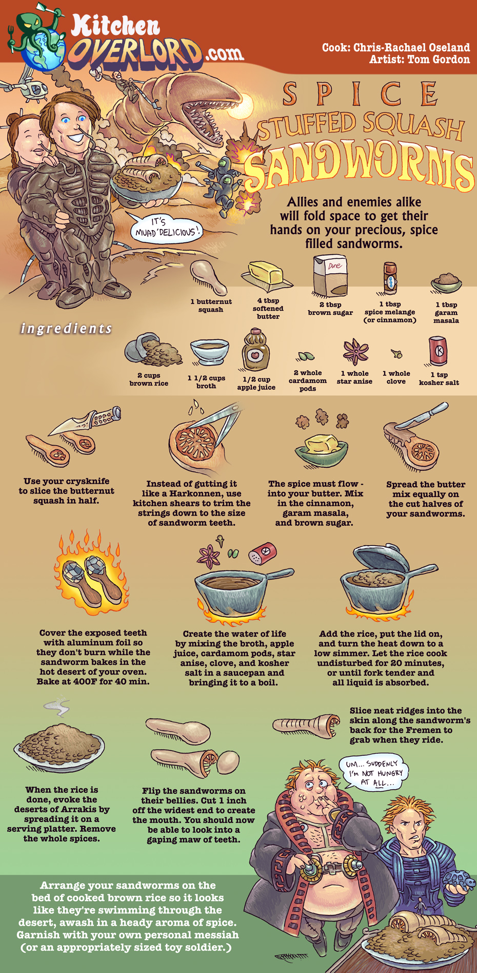 Kitchen Overlord Illustrated Geek Recipe for Dune