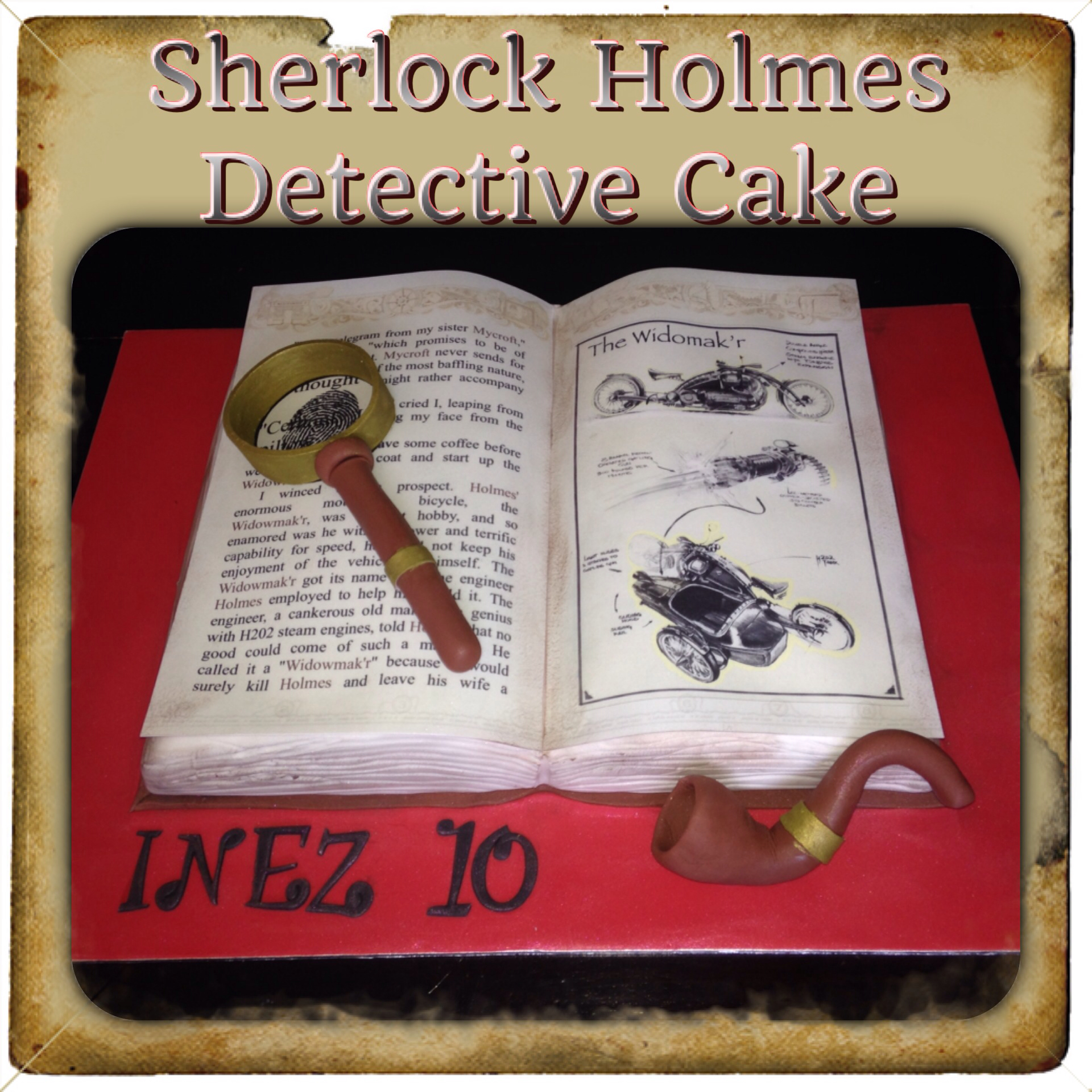 Geek Cake Friday: 14 Non-BBC Sherlock Cakes - Kitchen Overlord Closed Book Silhouette