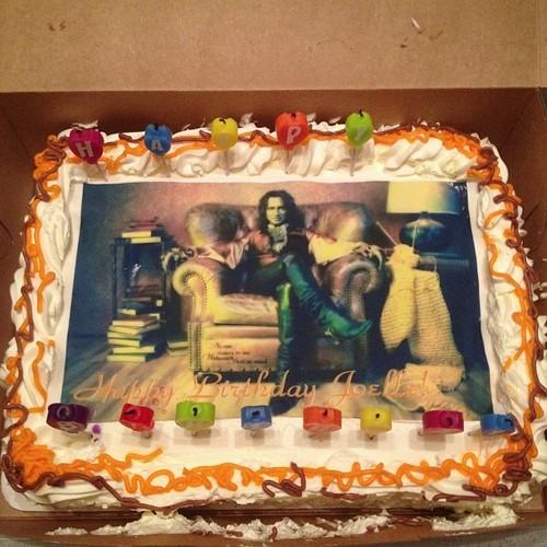 Birthday Cake Made With Yarn