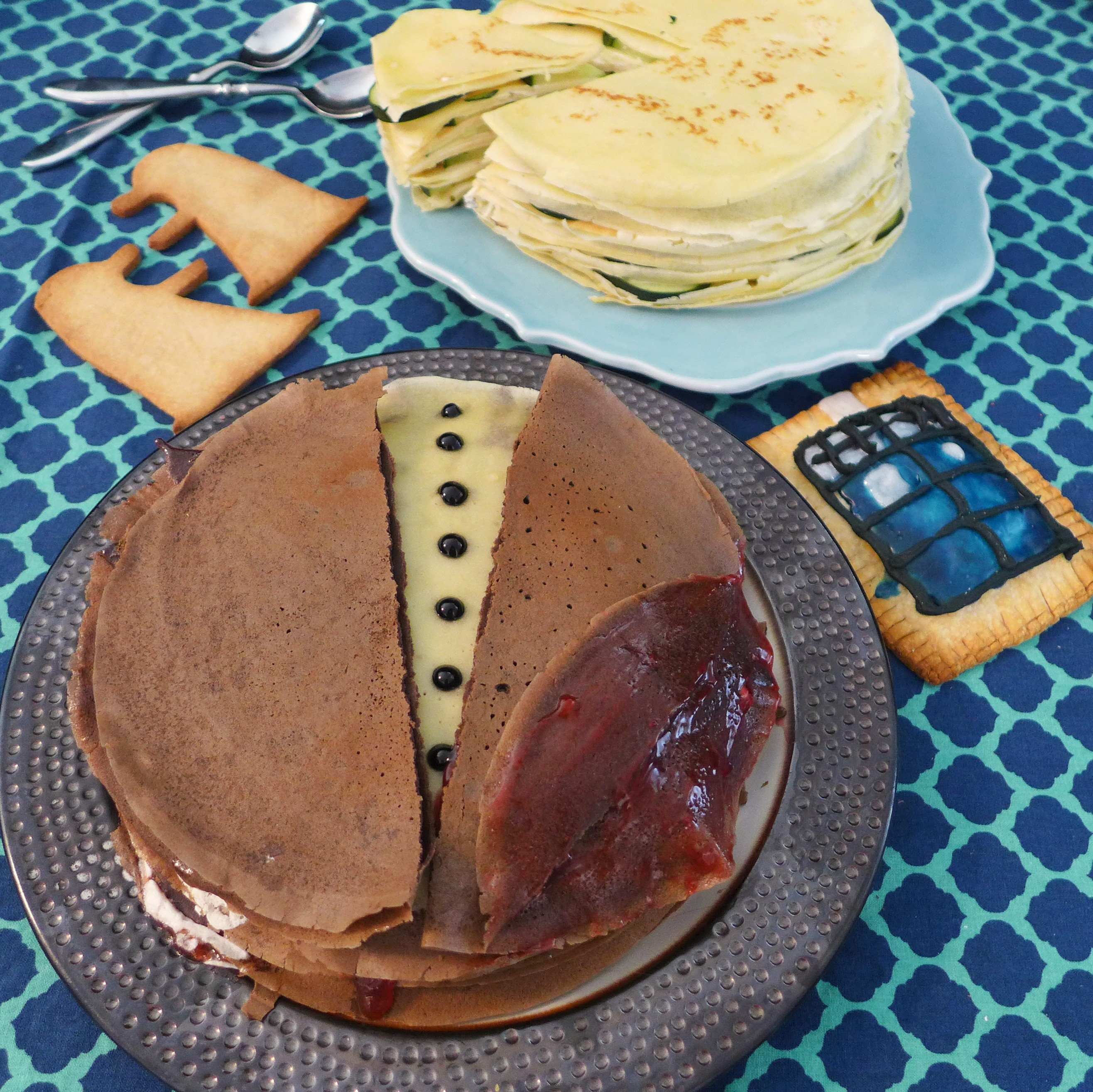 Square Dining Wit the Doctor: Regenerated - Flatline Crepe Cakes