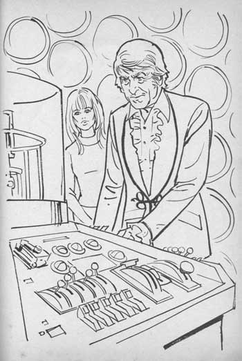 dw free 70s troughton - Doctor Who Coloring Book