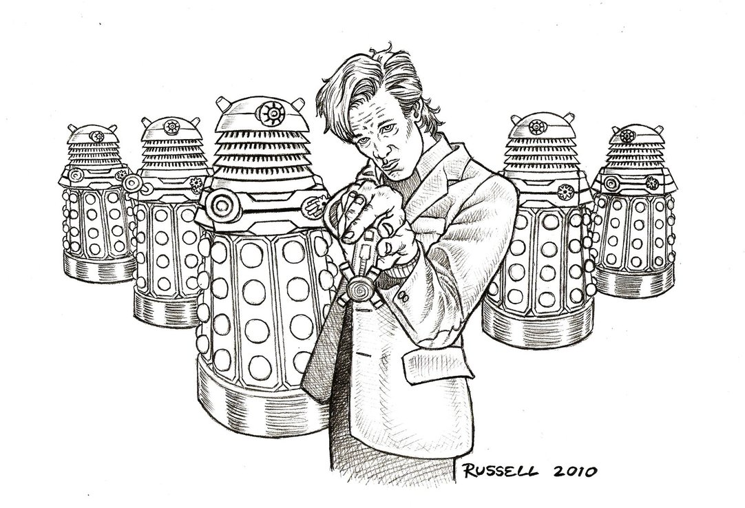 Coloring pages for doctors - Dw Free Page 11 And More Daleks