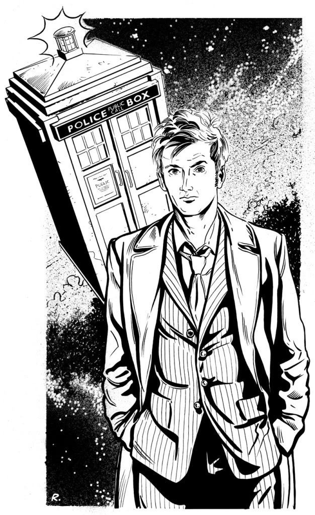 7 free doctor who fan art coloring books plus bonus for Tardis coloring pages