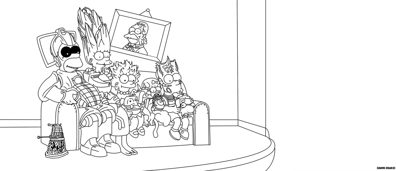 dw free pages dw vs simpsons - Simpsons Halloween Coloring Pages