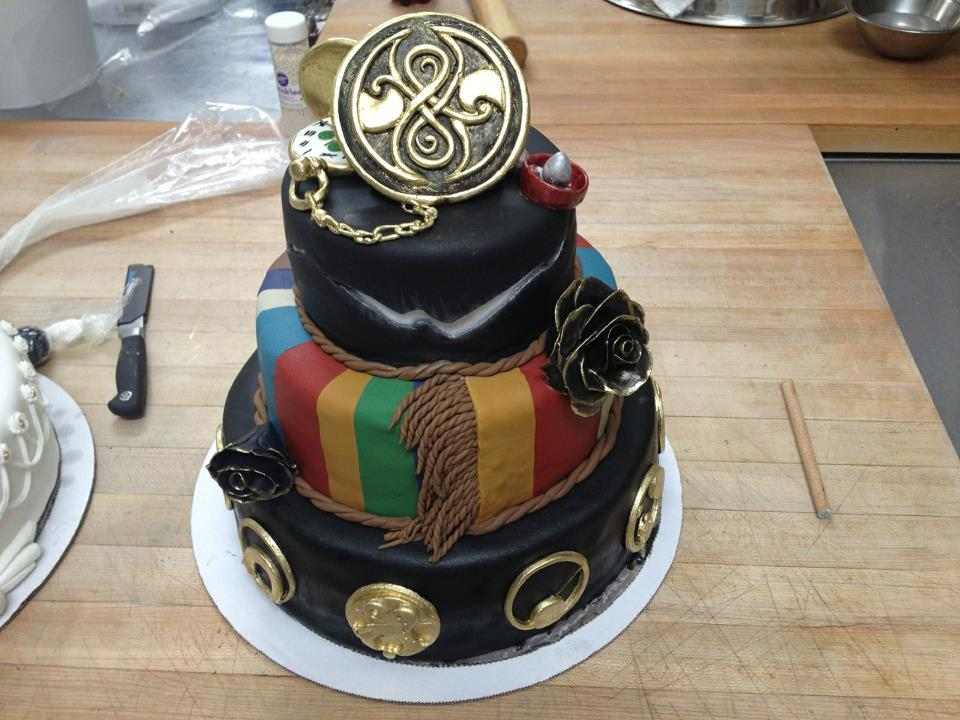 Dw Gallifreyan 01 This Elegant Doctor Who Cake
