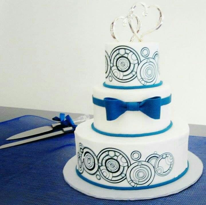 Dw No Tardis Gallifreyan Wedding Cake