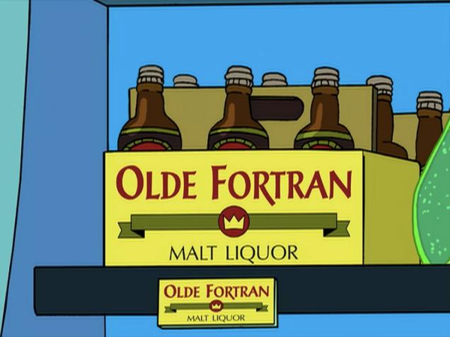 olde fortran malt liquor futurama screen shot