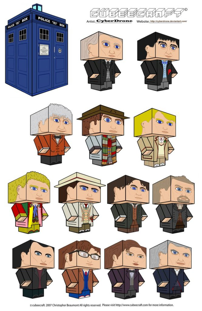 Whovian printables cubbie doctor assortment