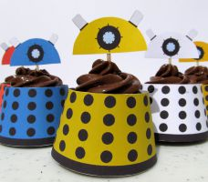 Whovian printables cupcake wrapper