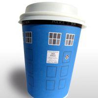 Whovian printables TARDIS coffee holder