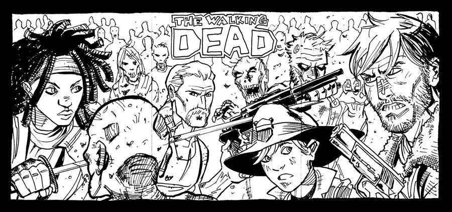 12 Free Walking Dead Coloring Pages