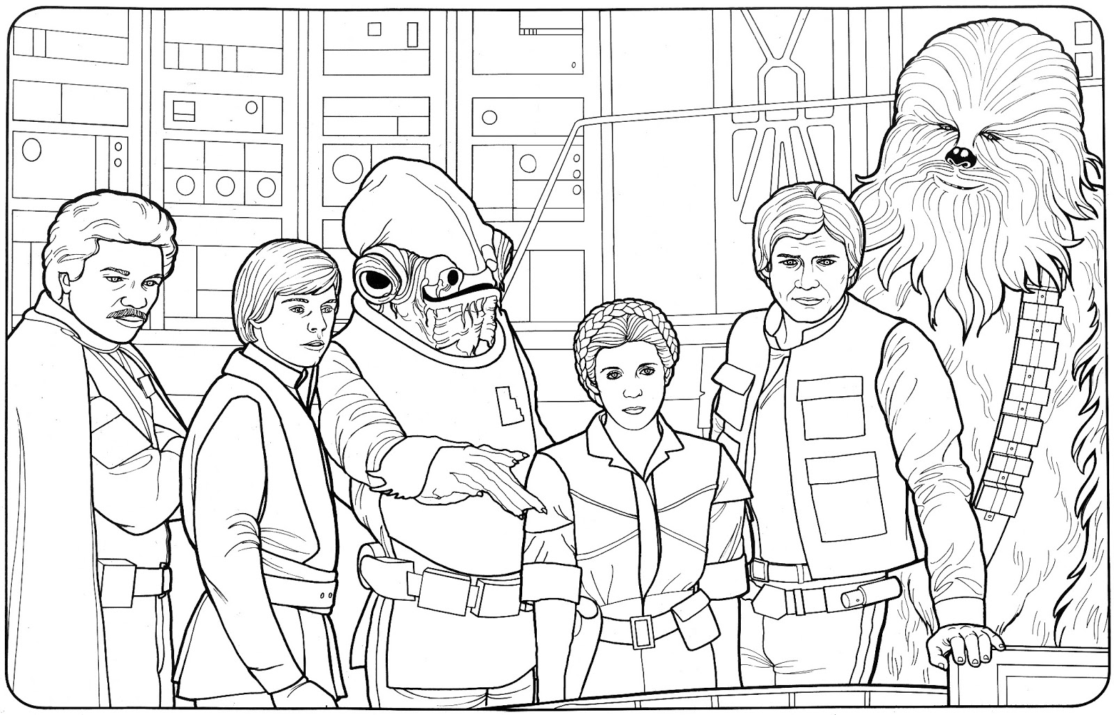 Make Your Own Star Wars Adventure With 50 Vintage 1980's Coloring Pages -  Kitchen Overlord